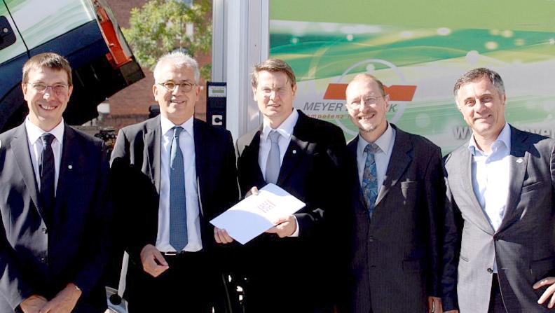Schlüchterns Grüne, begleitet vom designierten Bürgermeister suchen den Dialog mit dem Wirtschaftsminister.