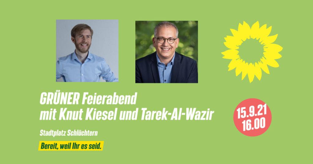 +++ GRÜNER Feierabend mit Knut Kiesel und Tarek Al-Wazir +++